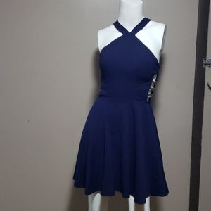 Speechless Sz 3 Mini Dress Blue